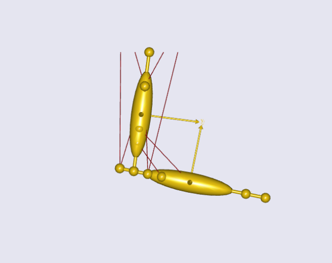 Model of a simple arm